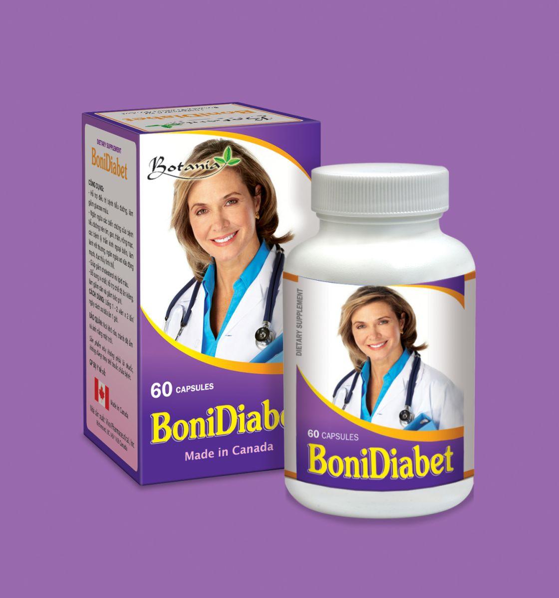 BoniDiabet sản phẩm hỗ trợ điều trị tiểu đường